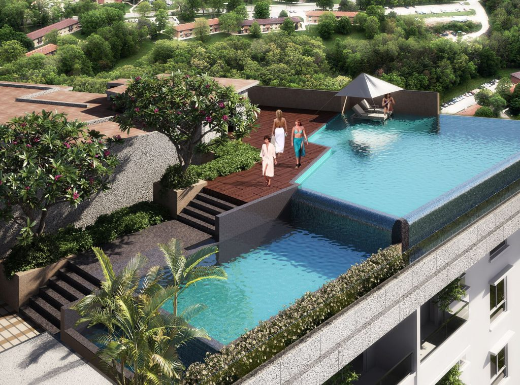 Sumadhura Essenza Roof Top Infinity Pool. 2bhk and 3bhk luxury apartments in whitefield